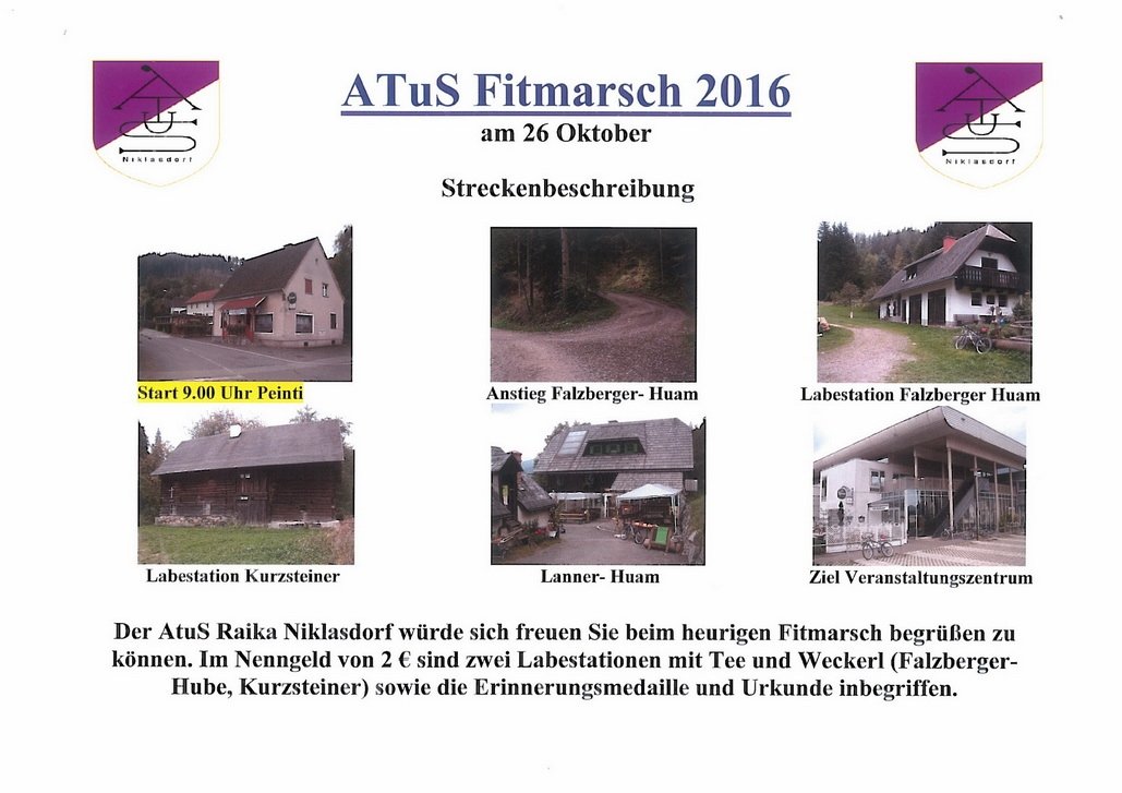 Fit-Marsch - Plakat