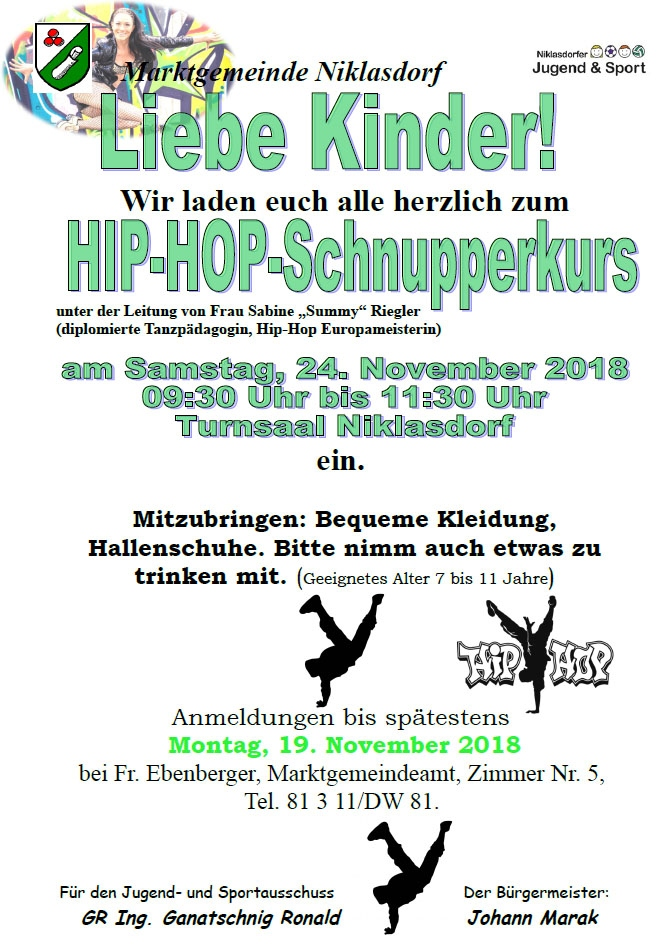 Hip-Hop Kinder-Schnupperkurs