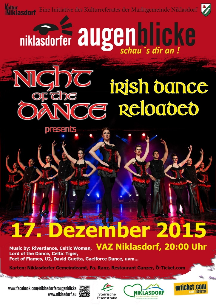Plakat Night of the Dance - IRISH DANCE reloaded